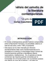Análisis Del Estudio de La Literatura Contemporánea - Copia