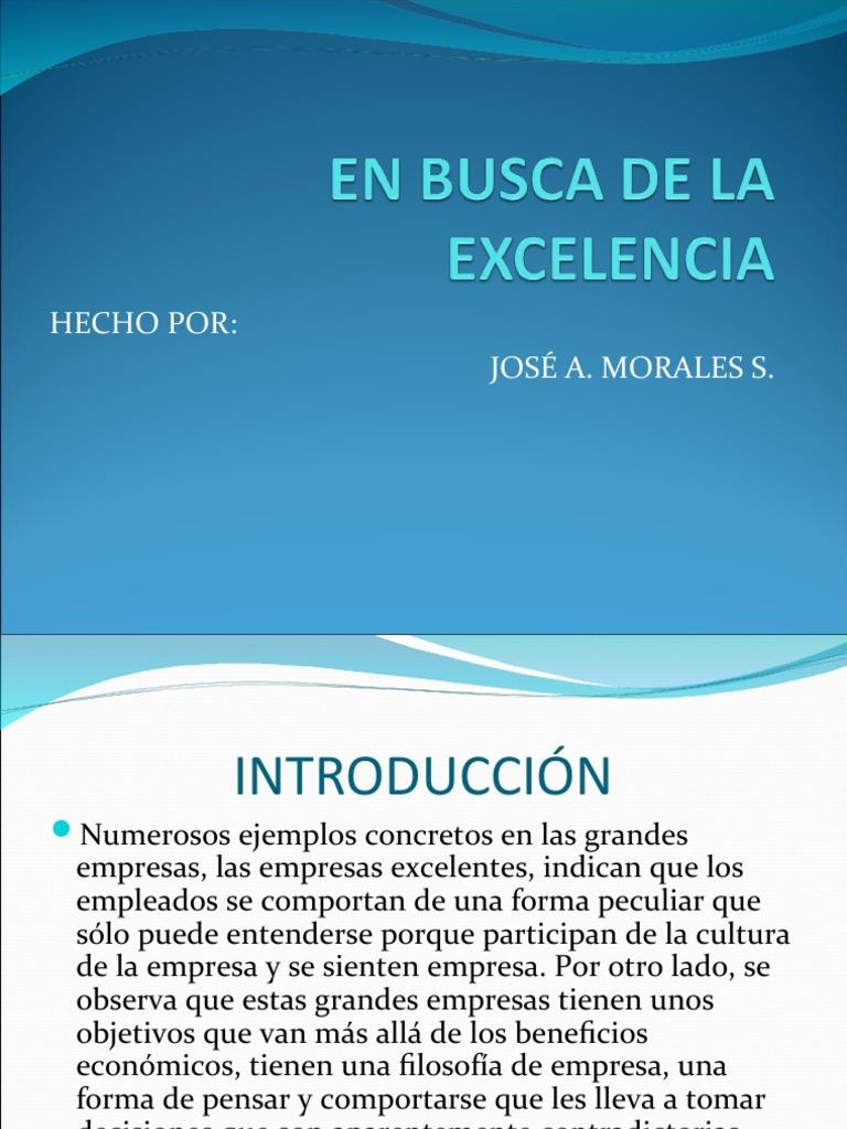 en busca de la excelencia tom peters pdf gratis
