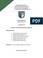 concepto de sistema de gestión ambiental