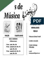 Aulas de Música Sidneia