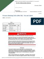 6.- Pressure Reducing Valve (Pilot Oil) - Test and Adjust