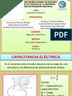 Capacitancia Eléctrica-Exposicion Grupal