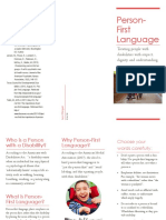 person-first language brochure