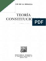 Teoría Constitucional, Luis de la Hidalga