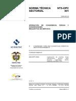 NTS – OPC 001. Operación de Congresos, Ferias y Convenciones. Requisitos de Servicio. 2009.pdf
