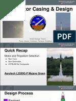 15. Solid Rocket Components and Motor Design