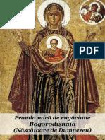 Pravila Mică de Rugăciune Bogorodișnaia, Format A5