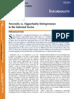 Entrepeneurs in Informal sector