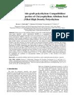Maleic Anhydride-graft-polyethylene Compatibilizer Effect on the Properties of Chrysophyllum Albidum Seed Powder Filled High Density Polyethylene