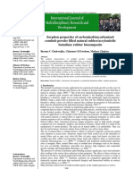 Sorption properties of carbonized/uncarbonized cornhub powder filled natural rubber/acrylonitrile butadiene rubber biocomposite