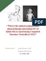 Paper- Congenital Muscular Torticollis PT