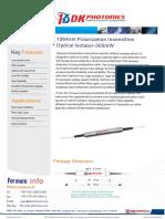 1um 1064nm Polarization Isensitive Optical Isolator