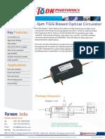 TGG Based 1030/1064nm Optical Circulator