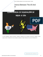 What is the Difference Between the US and Indian Federalism - IPleaders