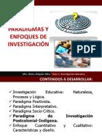 Tema 1 Paradigmas y Enfoques de Investigación 2016
