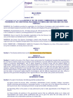 P.D. No. 807 - CS Decree of the Phil