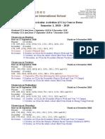 1819 CIS CCA Course Dates Semester1 9August18