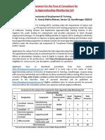 DET Gujarat Recruitment 2018 for HR  IT Consultant, DEO & Office Assistant.pdf