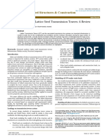 Structural Analysis of Lattice Steel Transmission Towers_ a Review