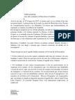 Declaración institucional de la Generalitat