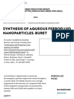 Synthesis of Aqueous Ferrofluid Nanoparticles