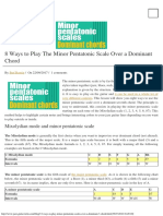 8 Ways to Use the Minor Pentatonic Scale on a Dominant Chord