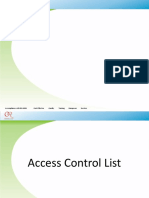 Access Control List Advance