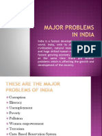 Major Problems in India