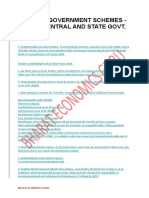 Govt. Schemes and Recent Happening in States