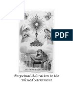 Perpetual Adoration to the Blessed Sacrament