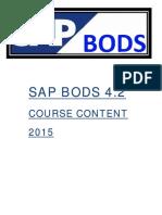 SAP BODS syllabus