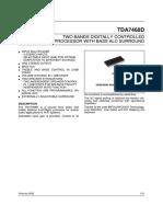 TDA7468D-Two Bands Digital Audio Processor Bass Alc Surround-SO2828L
