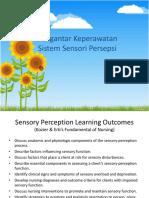 Pengantar Keperawatan Persepsi Sensori