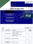Budget Highlights 2010 SNR