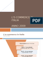 L'e-commerce in Italia - 2009