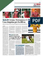 La Provincia Di Cremona 17-08-2018 - Serie B