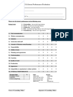 ACCA Intern Peformance Evaluation Form
