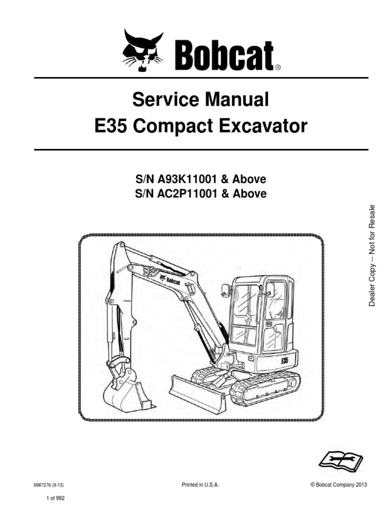 Bobcat e35 Date Back2013-2014 | Hvac | Elevator