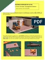 Nouveaux modules H0. N°20. S2. Le Bar-tabac.Aménagements intérieurs. Par H. Leclère
