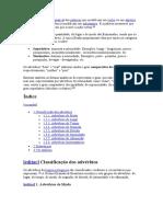 Língua Portuguesa- Advérbio