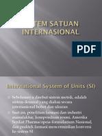 sistem satuan internasional