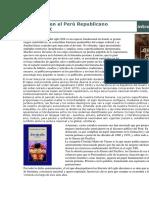 Literatura en El Perú Republicano