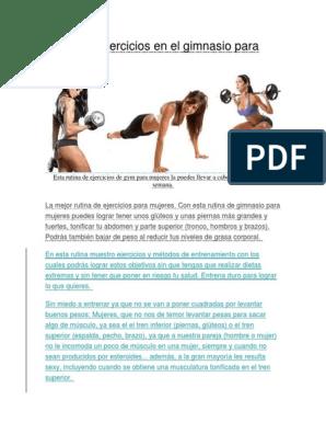 Rutina De Ejercicios En El Gimnasio Para Mujeres Recreación Ejercicio Físico
