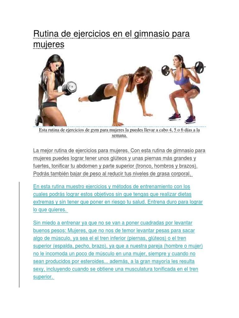 Y piernas gluteos en gym el de para mujeres rutina