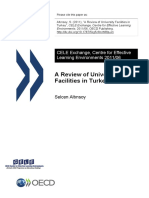 """OCDE - Altınsoy, S. (2011). """"a Review of University Facilities in Turkey"""". CELE Exchange, Centre for Effective Learning Environments(20116)."""