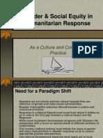 Gender & Social Equity in Humanitarian Response