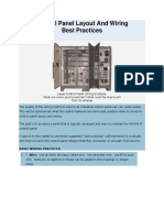 Control Panel Layout and Wiring Best Practices
