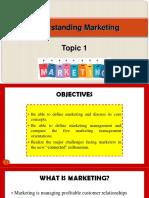 Understanding Marketing
