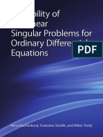 Irena Rachunkova, Svatoslav Stanek, And Milan Tvrdy-Solvability of Nonlinear Singular Problems for Ordinary Differential Equations