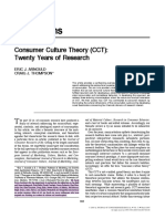 Consumer Culture Theory (CCT) - Twenty Years of Research